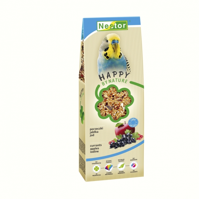 premium Food for parakeets with currants, apples and iodine